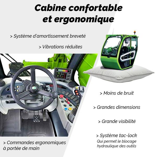 TF65.9 Merlo - Cabine confortable et ergonomique