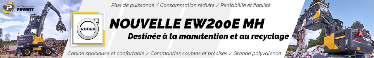 Nouvelle pelle sur pneus EW200E MH Volvo CE - Groupe PAYANT