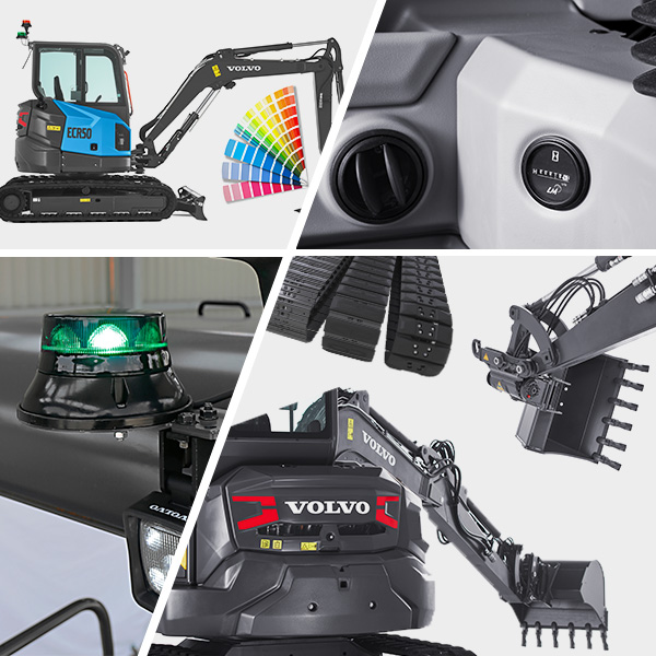 Pelle compacte ECR50 génération F : Multitude d'options et d'accessoires