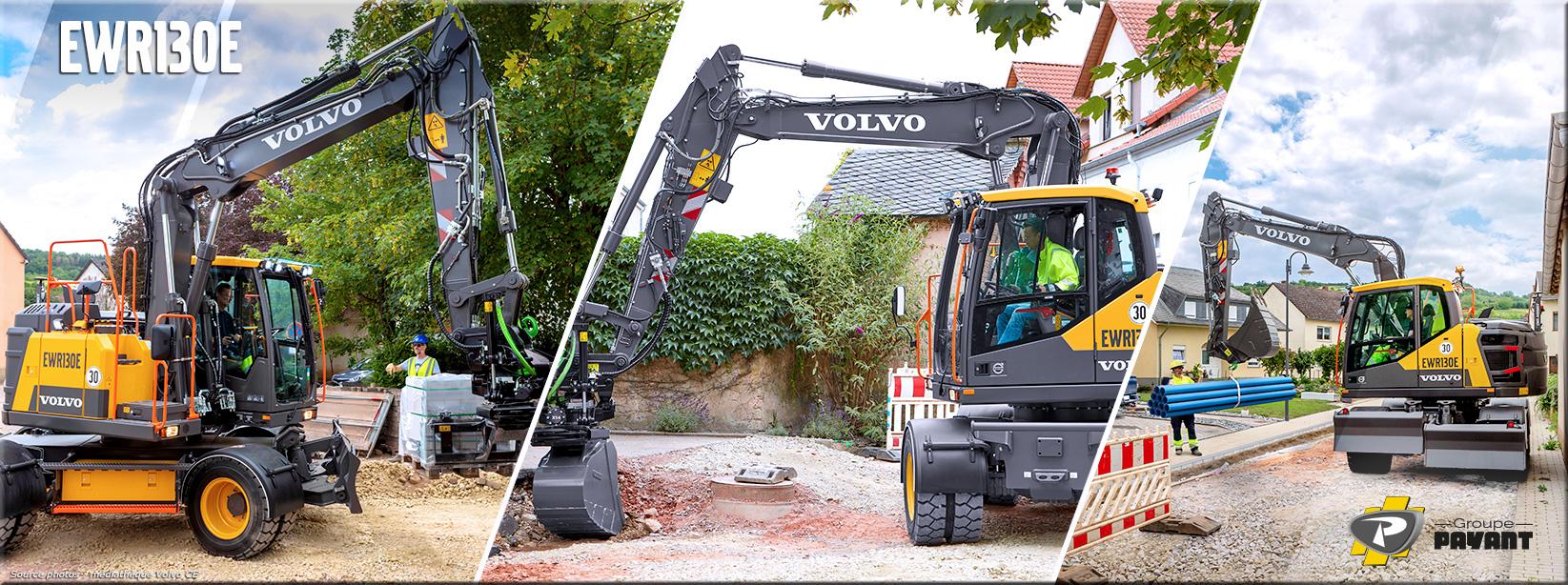 Pelle sur pneus EWR130E Volvo CE
