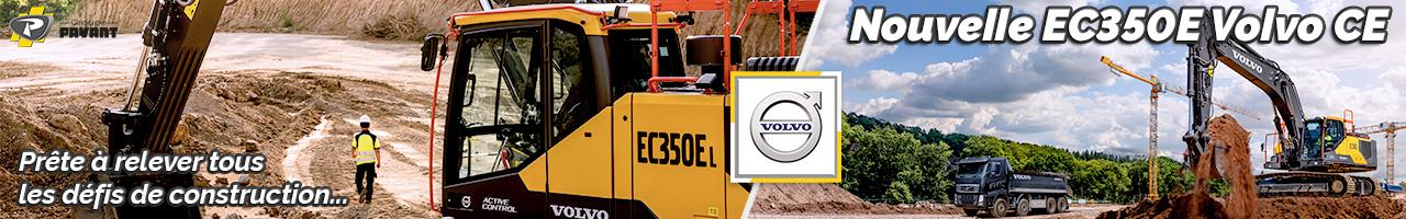 Nouvelle pelle sur chenilles EC350E Volvo CE - Groupe PAYANT