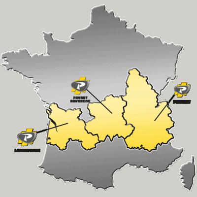 Zone de distribution des matériels FUCHS
