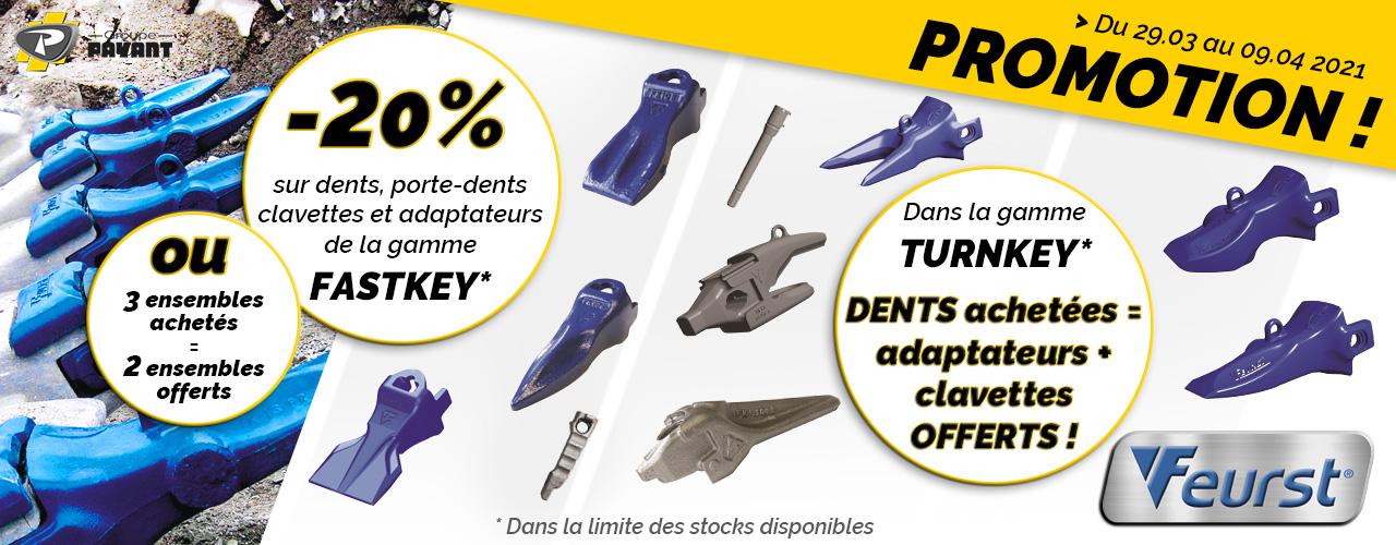 PROMO : Dents de godets FEURST - Groupe PAYANT