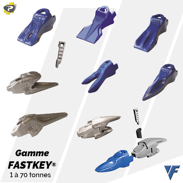 Dents de godets Feurst - Gamme FASTKEY