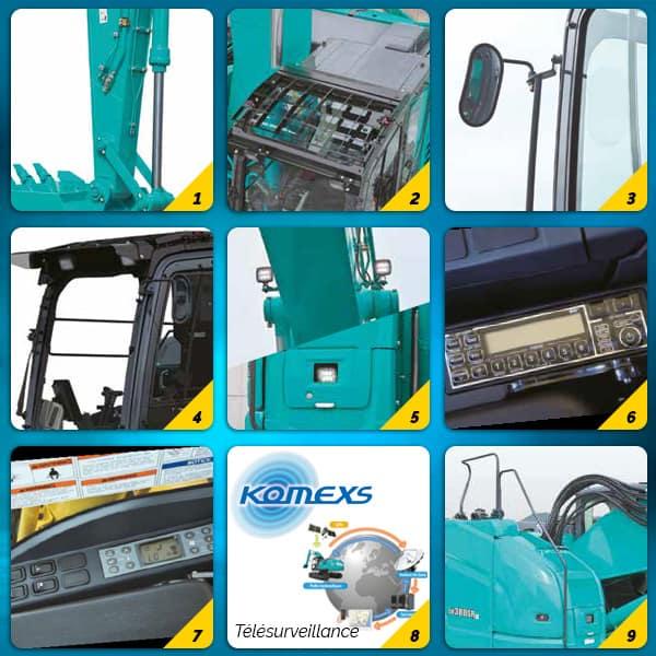 Pelle sur chenilles SK380SRLC Kobelco : de nombreux équipements de série