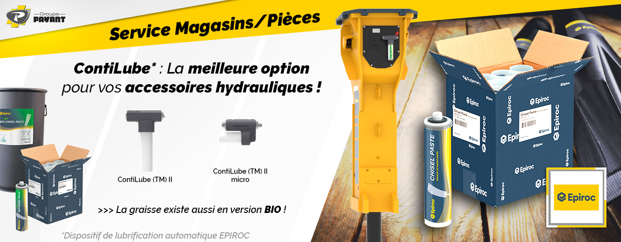 Système ContiLube II Epiroc - Magasins Groupe PAYANT