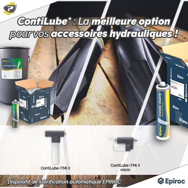Système de graissage automatique ContiLube II EPIROC - Magasins Groupe PAYANT