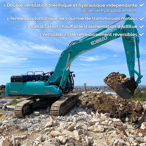 Pelle sur chenilles SK500LC-11 : fiabilité et durabilité exemplaire
