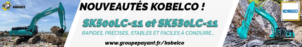 Nouveau : SK500LC-11 et SK530LC-11 Kobelco - Groupe PAYANT