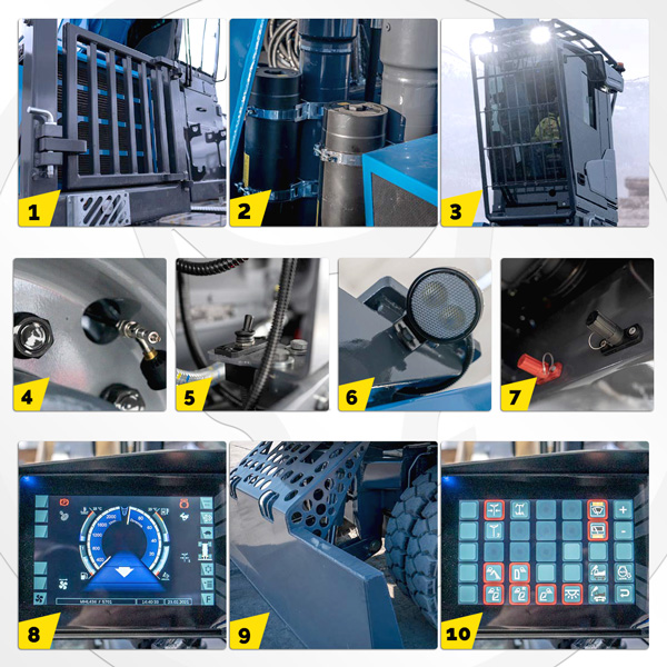 Pelle industrielle MHL434 F Fuchs Terex : les équipements standards