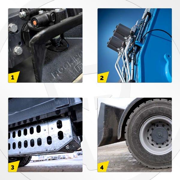 Pelle industrielle MHL434 F Fuchs Terex : les options spéciales  (pour les applications dédiées aux bois)