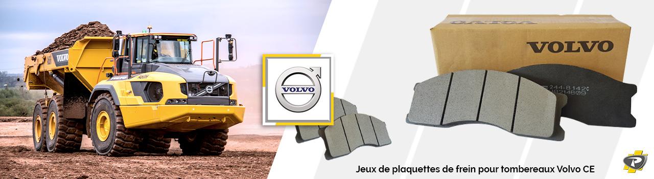 Plaquettes de frein pour tombereaux Volvo CE