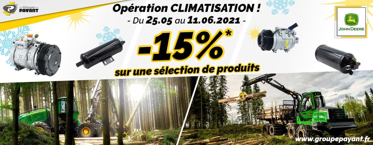 Promo climatisation John Deere - Groupe PAYANT