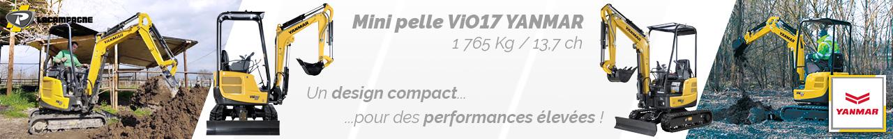 Mini pelle ViO17 Yanmar - Lacampagne