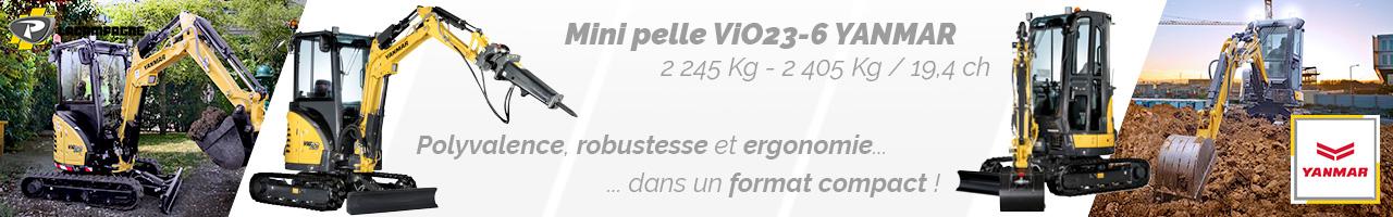 Mini pelle ViO23-6 Yanmar - Lacampagne