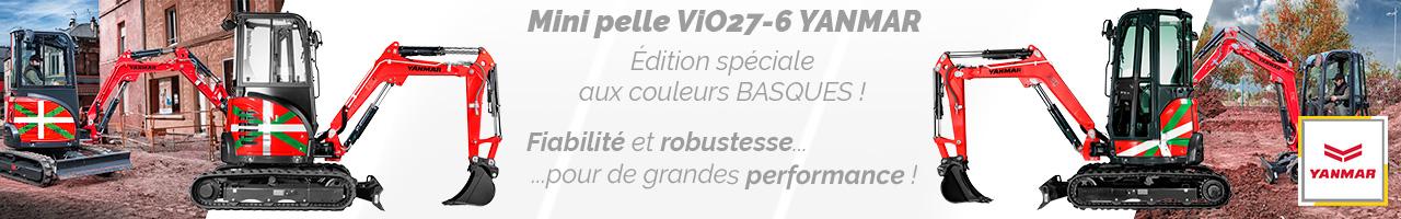 Mini pelle ViO27-6 Édition Basque Yanmar - Lacampagne