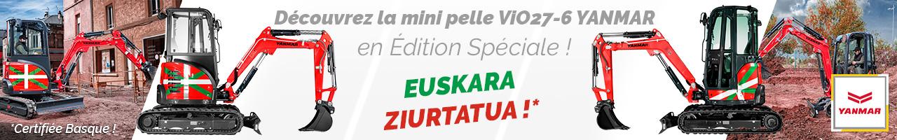 Mini pelle ViO27-6 Édition spéciale Basque Yanmar - Lacampagne