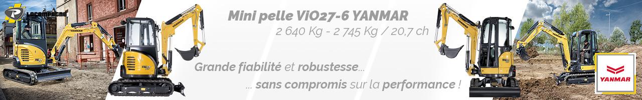 Mini pelle ViO27-6 Yanmar - Lacampagne