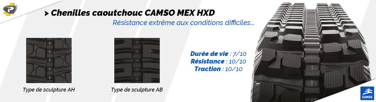 Chenilles caoutchouc CAMSO MEX HXD - Groupe PAYANT