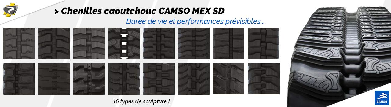 Chenilles caoutchouc CAMSO MEX SD - Groupe PAYANT