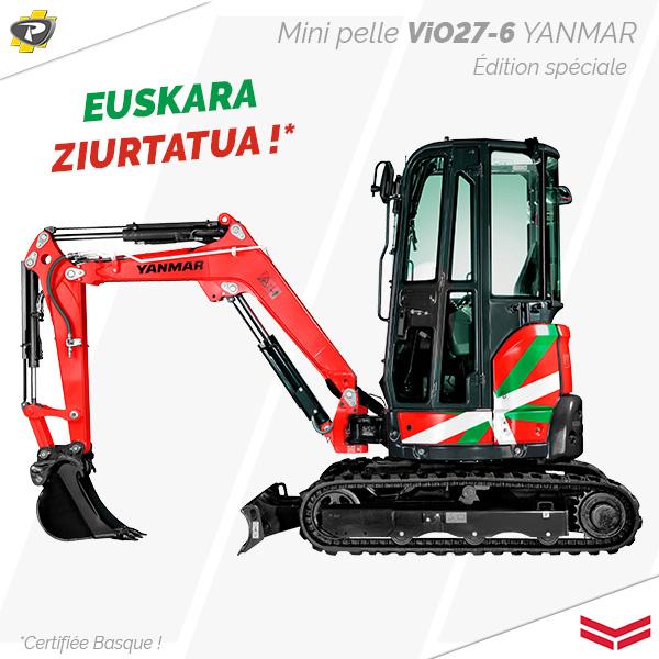 Mini pelle ViO27-6 Édition Basque Yanmar