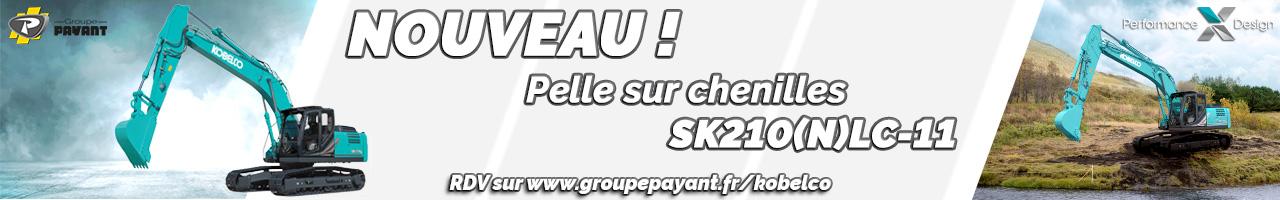 Nouveau : pelle sur chenilles SK210 Kobelco version -11 - Groupe PAYANT