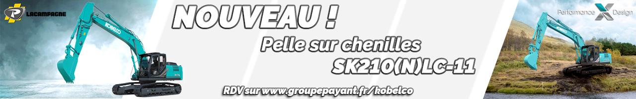 Nouveau : pelle sur chenilles SK210 Kobelco version -11 - LACAMPAGNE