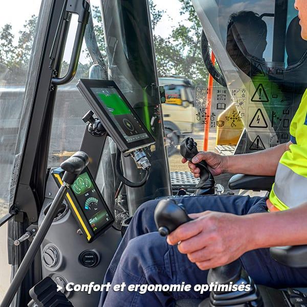 Pelle sur chenilles EC350E Hybride : confort et ergonomie optimisés
