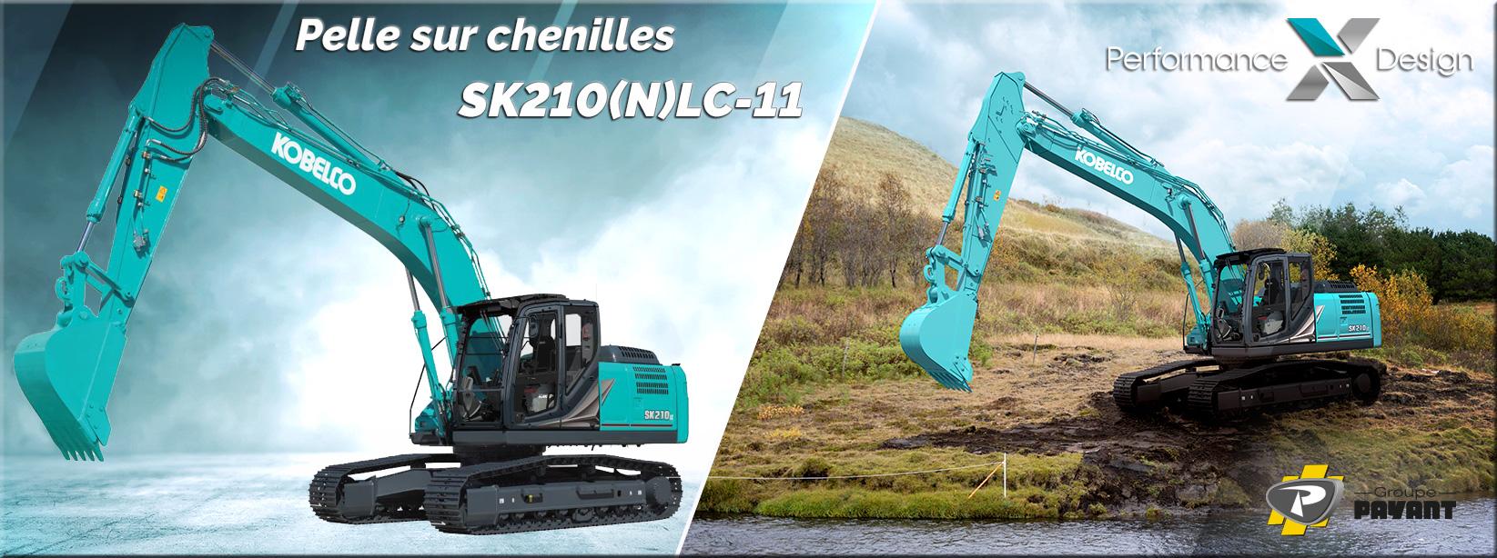 Pelle sur chenilles SK210(N)LC-11 Kobelco