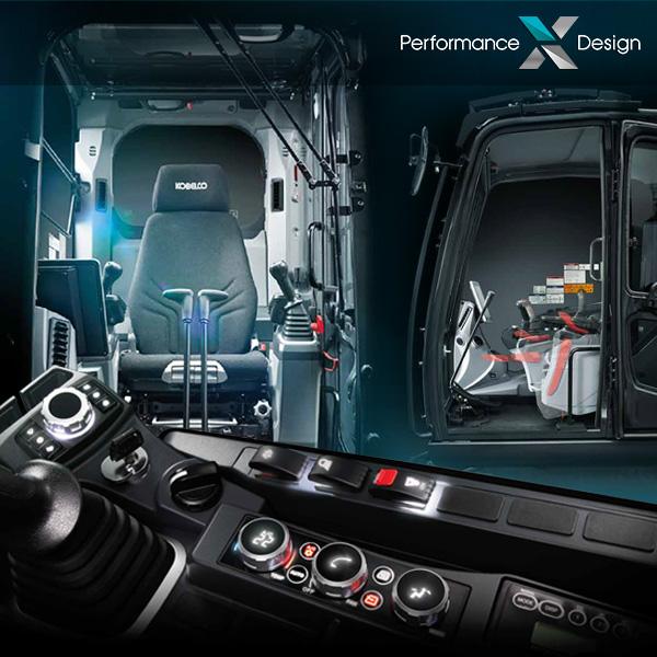 Pelle sur chenilles SK210LC-11 et SK210NLC-11 Kobelco : ergonomie et confort exceptionnel