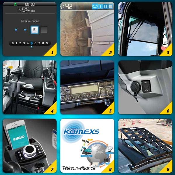 Pelle sur chenilles SK210LC-11 et SK210NLC-11 Kobelco : nombreux équipements de série