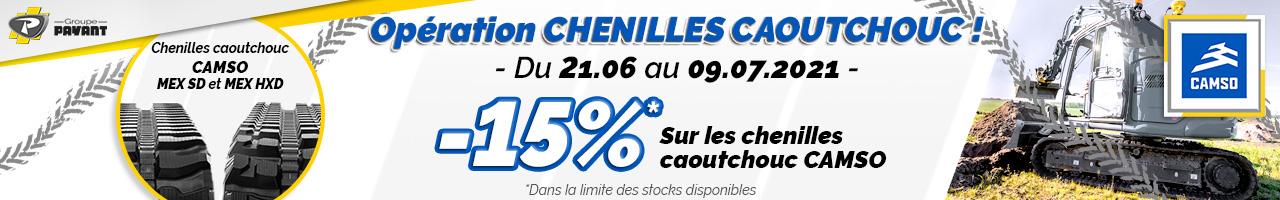 Promo : -15% sur les chenilles caoutchouc CAMSO avec le Groupe PAYANT