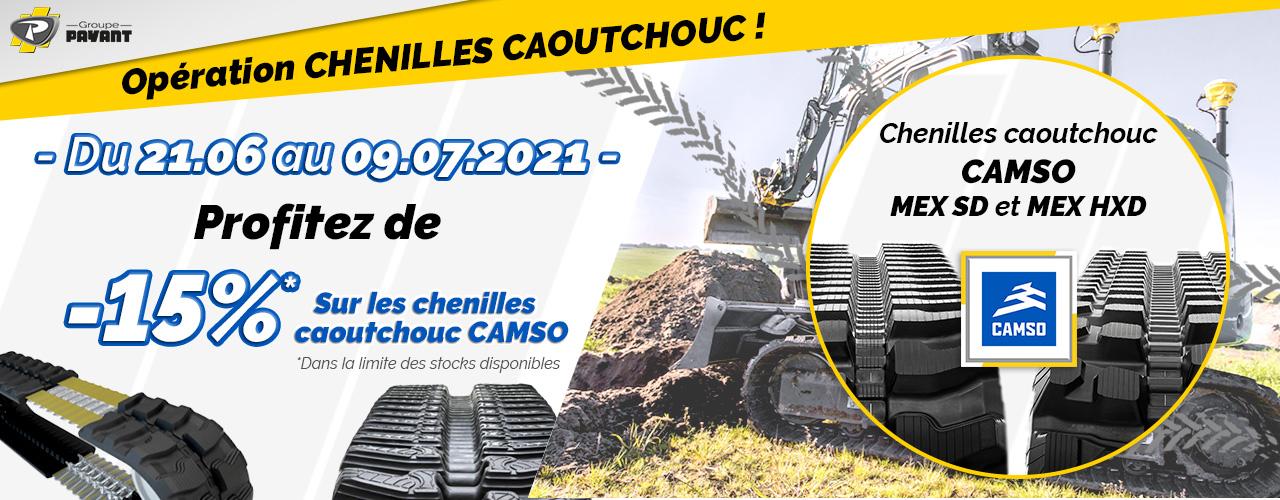 Promo : -15% sur les chenilles caoutchouc CAMSO - Groupe PAYANT