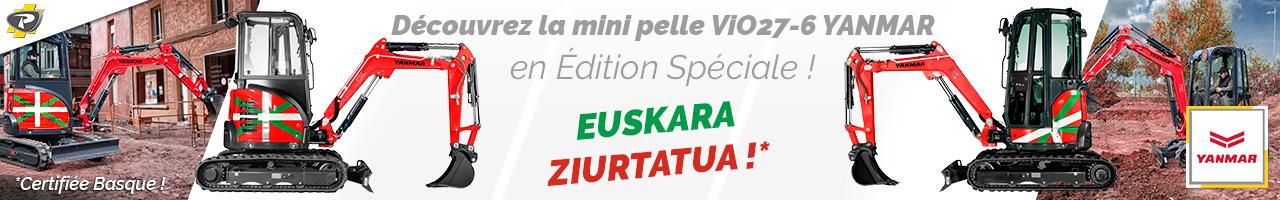 Édition limitée ViO27-6 Yanmar aux couleurs basques - LACAMPAGNE
