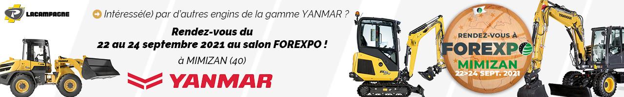 Événement : Forexpo 2021 avec Lacampagne et Yanmar