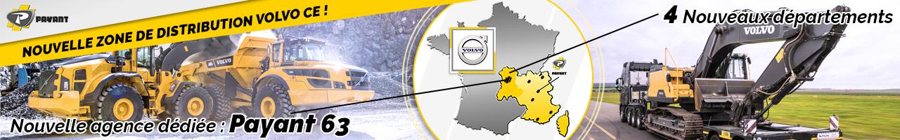 Information : nouvelle zone de distribution de matériels Volvo CE - PAYANT