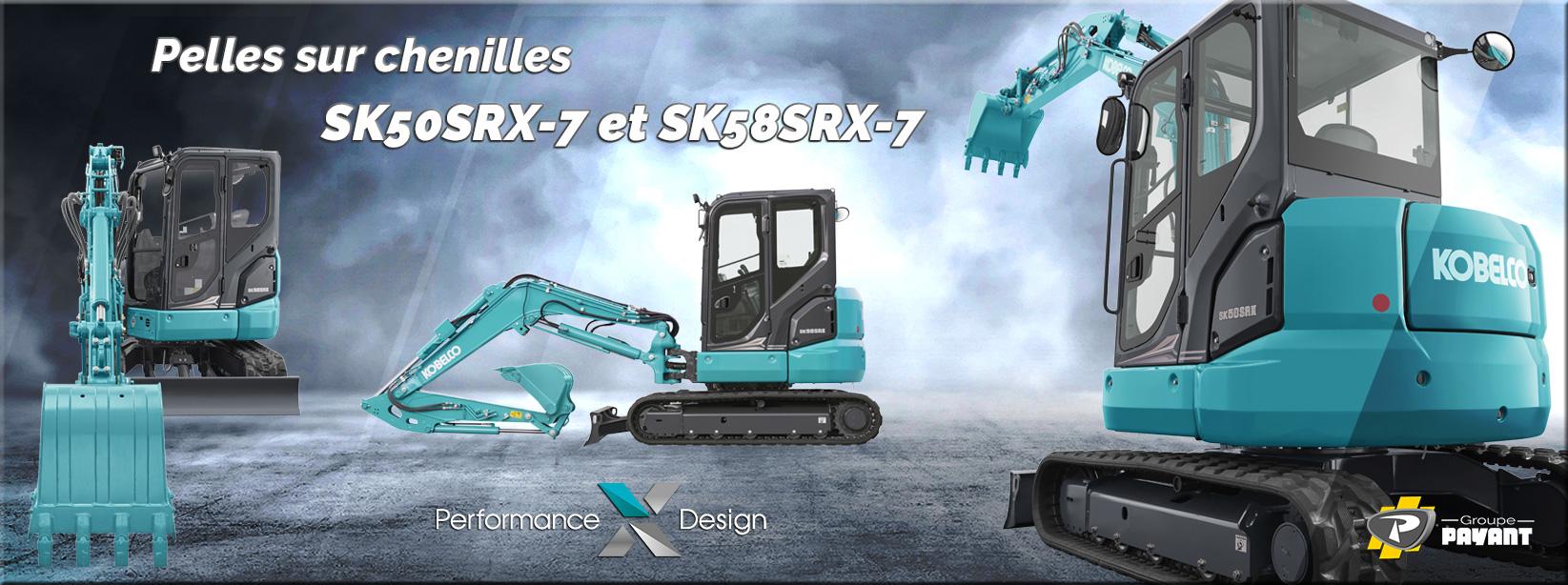 Mini pelles sur chenilles SK50SRX-7 et SK58SRX-7 Kobelco - Groupe PAYANT