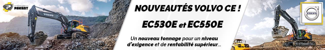 Nouveau : pelles sur chenilles EC530E et EC550E Volvo CE - Groupe Payant
