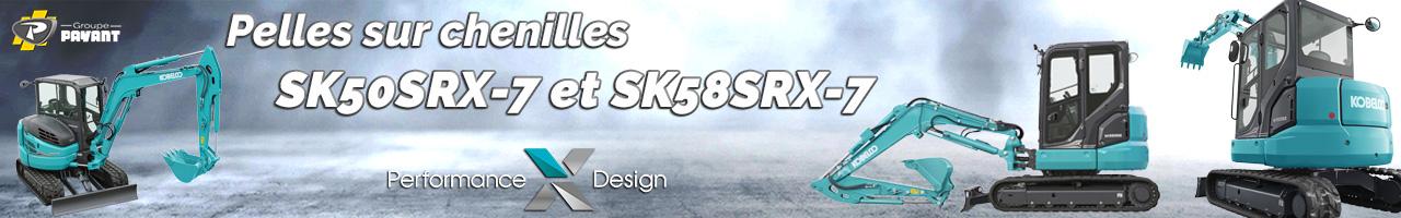 Nouvelles mini pelles SK50SRX-7 et SK58SRX-7 Kobelco - Groupe PAYANT