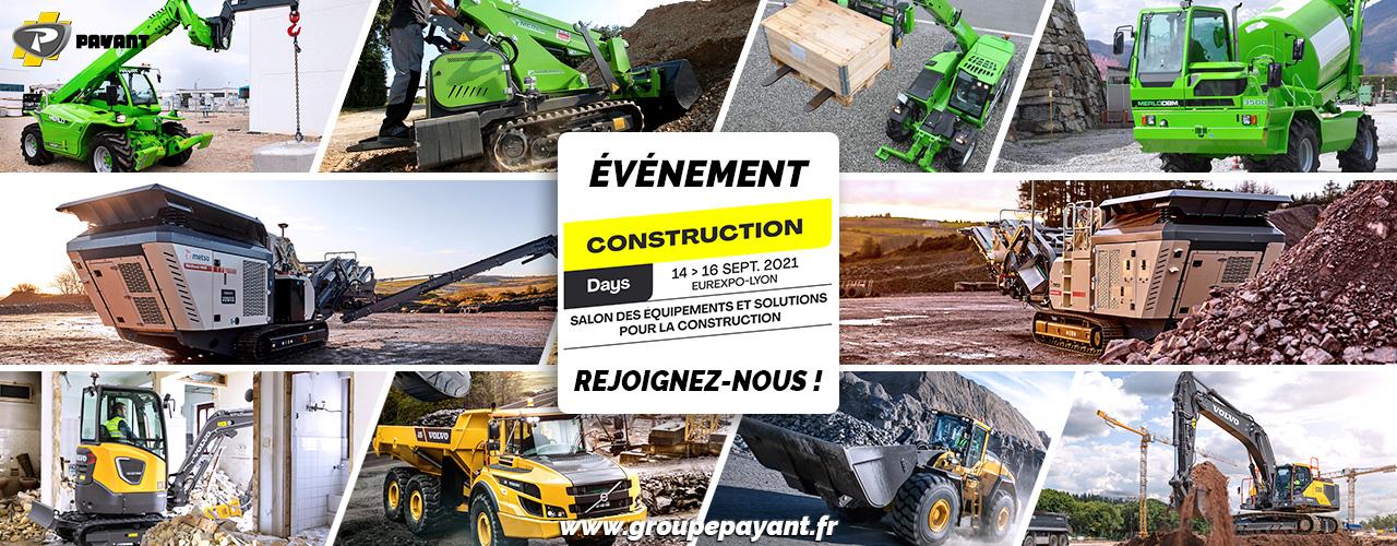 Événement : Construction Days 2021 avec PAYANT