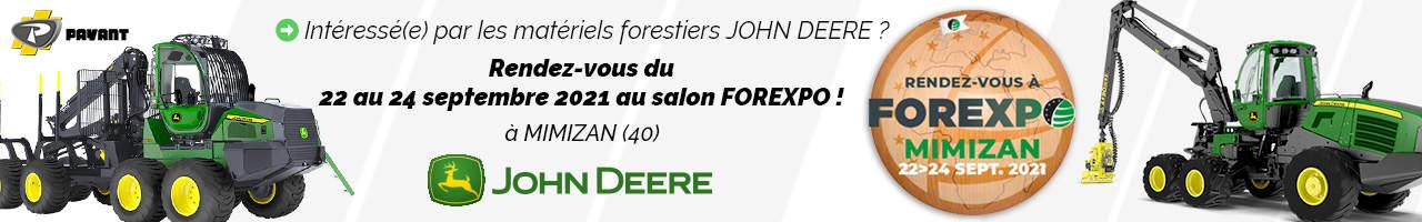 Événement : FOREXPO 2021 avec John Deere et PAYANT