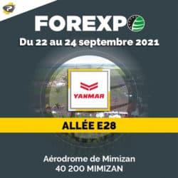 FOREXPO 2021 avec Yanmar et Lacampagne
