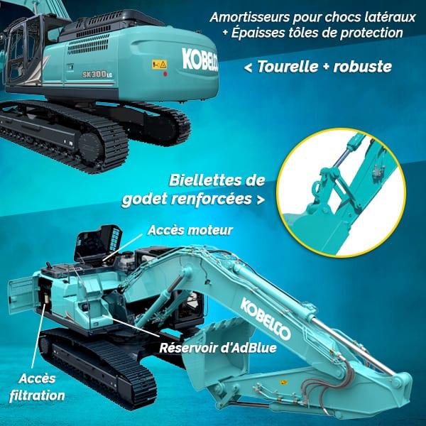 Pelles sur chenilles SK300LC-11 et SK300NLC-11 : fiabilité et sécurité