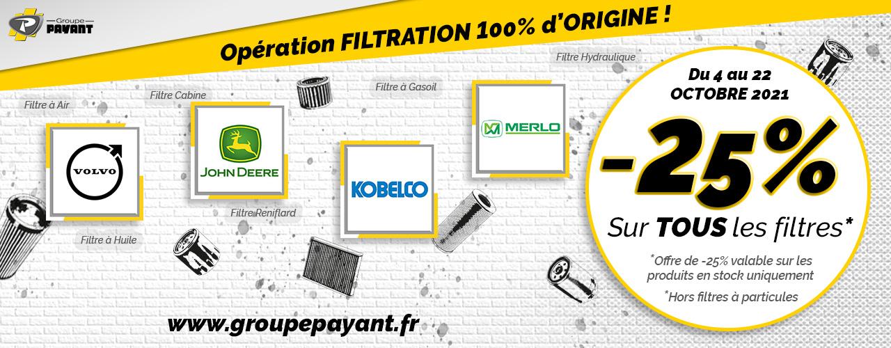 Promotion : Filtration 100% d'origine - Groupe PAYANT